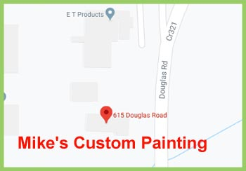 mikes custom painting map